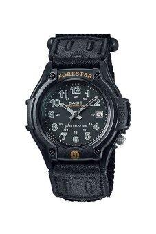 2561 Casio นาฬิกาข้อมือผู้ชาย สายสายหนัง/ผ้า Standard รุ่น FT-500WC-1BV - สีดำ