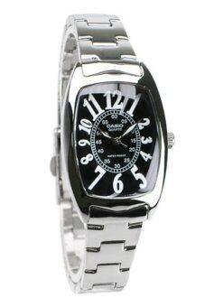 Casio Standard นาฬิกาข้อมือผู้หญิง สายสแตนเลส รุ่น LTP-1208D-1BDF - เรือนเหล็ก/หน้าดำ