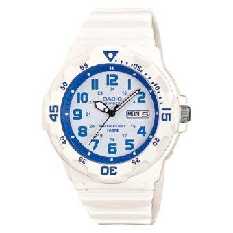 Casio Standard นาฬิกาข้อมือผู้ชาย สายเรซิ่น รุ่น MRW-200HC-7B2 -สีขาว