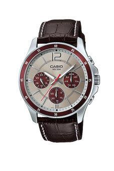 Casio Standard นาฬิกาผู้ชาย สายหนัง รุ่น MTP-1374L-7A1 - Brown