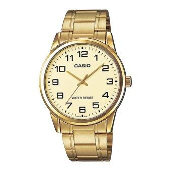 Casio Standard นาฬิกาข้อมือสุภาพบุรุษ สายสแตนเลส รุ่น MTP-V001G-9BUDF - Gold