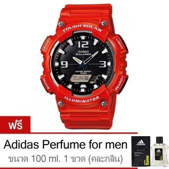 Casio นาฬิกาข้อมือ Standard Solar Power AQ-S810WC-4AV - Red (FreeAdidas Perfume for men 100ml 1 ขวด)
