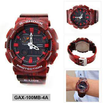 Casio Watch G-SHOCK G-LIDE Red Resin Case Resin Strap Mens NWT + Warranty GAX-100MB-4A