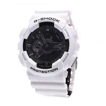 Casio Watch G-SHOCK White Resin Case Resin Strap Mens NWT + Warranty GA-110GW-7A