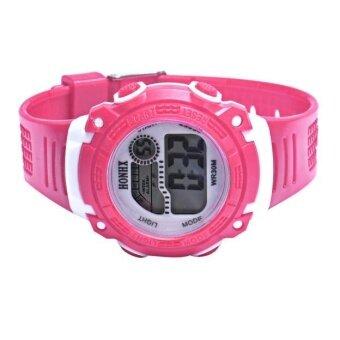 Children Girls Digital LED Quartz Alarm Date Sports Wrist Watch PK - intl