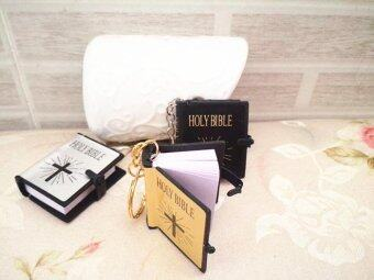 Harga Christmas gift Mini Pocket Holy Bible in English version Jesuskeychain bible miniature keyring gift (colour:Silver) - intl