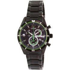 Citizen Eco-Drive Black Ion 100m Sports Chronograph นาฬิกาข้อมือผู้ชาย Watch AT2115-52E