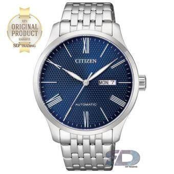 CITIZEN Men's Automatic Stainless Steel Watch รุ่น NH8350-59L -Silver/Navy เลขโรมัน