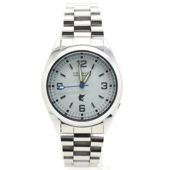 ประเทศไทย CONAVIN นาฬิกาข้อมือผู้ชาย ระบบ Quartz สายสแตนเลส เรือนเหล็ก หน้าปัดขาว รุ่น CON-008T