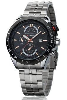 Curren นาฬิกาข้อมือสุภาพบุรุษ สีเงิน/ดำ สายสแตนเลส รุ่น C8148