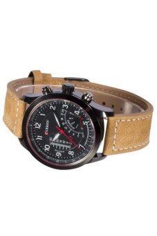 Curren นาฬิกาข้อมือสุภาพบุรุษ สายหนังสีน้ำตาล หน้าปัดสีดำ รุ่น C8152 (image 3)