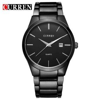 CURREN Full Stainless Steel Men Watch 8106 BLACK BLACK - intl