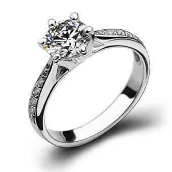 เครื่องประดับ ผู้หญิง แหวน - แหวนน่ารักประดับ CZ สีขาวตัวเรือน