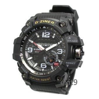 ซื้อ/ขาย D-ZINER นาฬิกาข้อมือผู้ชาย สายซิลิโคน รุ่นDZ-8143 (ดำ)
