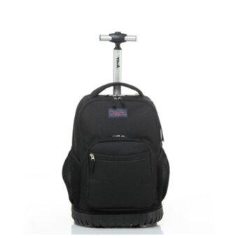 Discount Rolling School Trolley Bag 4-9 Grade Black - intl