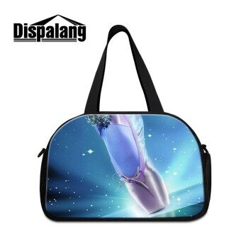 Dispalang Girls Large Travel Bags Ballet Shoes Carry on Luggage Bags Womens Travel Duffel Bags Tote Big Weekend Bag Overnight - intl