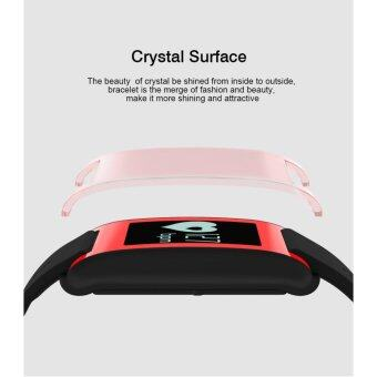 DM68 Bluetooth Heart Rate Blood Pressure Monitor Smart Bracelet Health Tracker IP67 Waterproof For iOS Android