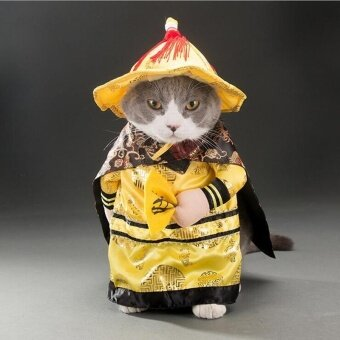 Dog Cats Halloween Costume Emperor Cosplay Funny Pet Dress Up PartyClothes S - intl