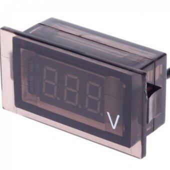 ลดราคา DOUBLETECH มิเตอร์วัดกระแสไฟแบตเตอรี่ DIGITAL VEHICLE MOUNTEDVOLTMETER 12V-24V ไฟled สีแดง