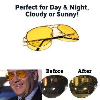 Elit แว่นตาขับรถกลางคืน แว่นตาตัดหมอก Night Vision Polarized 2 รุ่น GNV02-ST