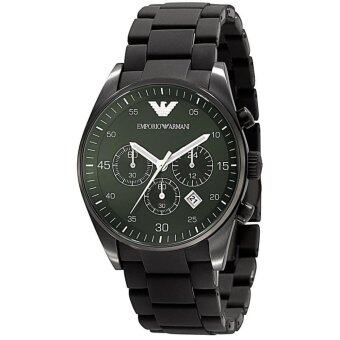 ราคา Emporio Armani Quartz Chronograph Green Dial Men s Watch AR5922