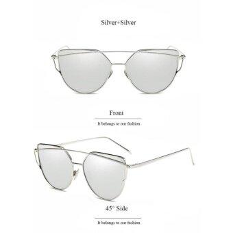 EsoGoal Fashion Women Sunglasses Sunscreen Anti-UV Color Film Sunglasses , Sliver - intl ...