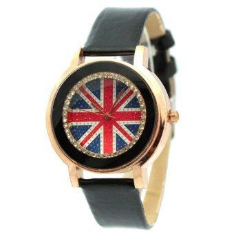 ซื้อ/ขาย EXIT9 นาฬิกาแฟชั่นผู้ชาย หน้าปัดสีดำ สายหนังสีดำ
