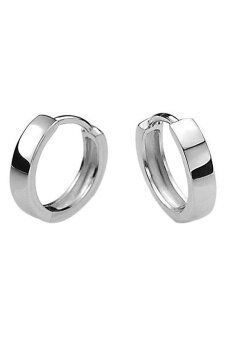 Fashion Men 925 Sterling Silver Plated Hoop Earring Earrings Hoop Huggie Gift - intl
