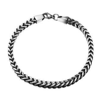 Fashion New Style 316L Stainless Steel Bangle Chain Bracelet - intl