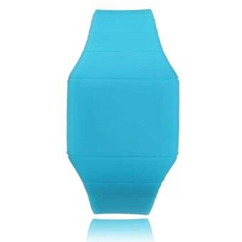 Fashion Women Men Kids Candy Jelly Silicone Led Digital Sport TouchWatches(Blue)
