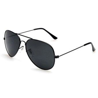 Fashion&Casual women polarized sunglasses Fashion sunglasses (Black Grey)