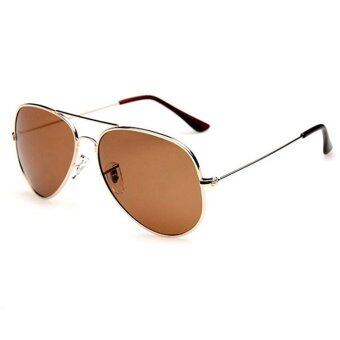 Fashion&Casual women polarized sunglasses Fashion sunglasses (Gold Brown)