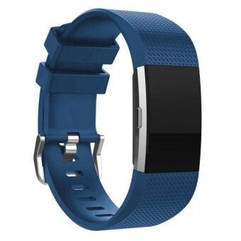 For fitbit charge 2 bracelet wristband For Fitbit charge 2 SoftSilicone Strap Accessories watchbands Blue S Size