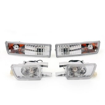 Front Bumper Clear Lens Light&Signal Lamp Fog Light for VW Golf Jetta MK3 93-98 - intl