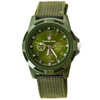 Gemius Army นาฬิกาผู้ชาย สายผ้า สีเขียว Military Sport Men Watch - Green