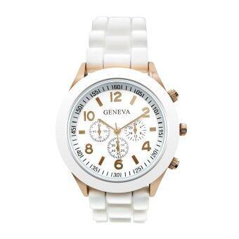 GENEVA watch นาฬิกาข้อมือผู้หญิง สีขาว สายยาง รุ่น WM0001