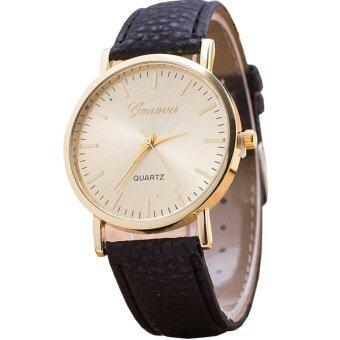 GENEVA Women Watch นาฬิกาข้อมือผู้หญิง สายหนัง รุ่น WATCH X005 -Black