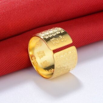 GM Creative retro heart ring gold ring - intl