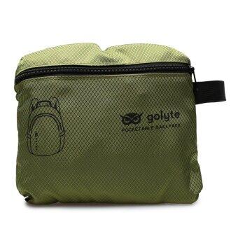 Golyte กระเป๋าเป้สะพายหลังพับได้ Foldable Daypackผ้ากันน้ำสำหรับเดินทาง กีฬา นำ้หนักเบา สีเขียว - 4