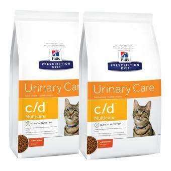 Hill's Prescription Diet c/d Multicare Urinary Care with Chicken Dry Cat Food อาหารเม็ด สำหรับแมวที่เป็นโรคนิ่ว 3.85kg (2 Units)