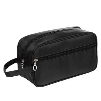 Harga Waterproof Big Capacity Travel Toiletry Bag Wash Shaving Bag Makeup Grooming Toilet Bag Black (Intl)