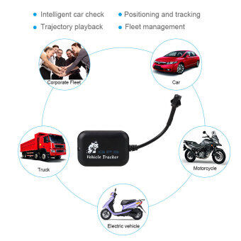 Harga Vehicle Car Motorcycle Global GPS Tracker Real Time 4 Bands Tracking Anti-theft