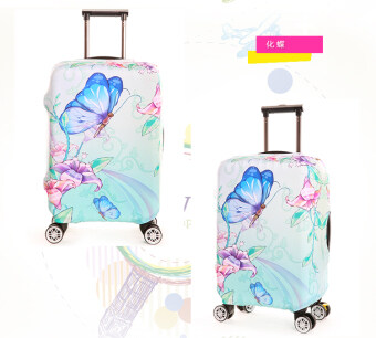Harga FLORA Stretchable Elasticy 18-20 inch Waterproof Stretchable Suitcase Luggage Cover to Travel- Butterfly