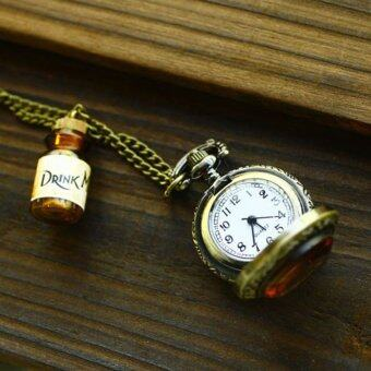 Harga Functional Watch drink me drift bottles tea retro pocket watch