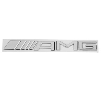 Harga RIS 3D Metal AMG Logo Sticker Decal Badge Emblem for Mercedes Benz Decor -Silver