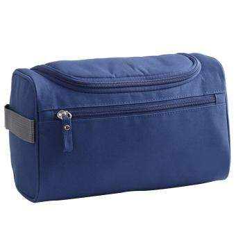 Harga Unisex Men Women Portable Waterproof Big Capacity Travel Toiletry Bag Wash Shaving Bag Makeup Grooming Toilet Bag with Hanging Hook for Business Vacation Blue - intl