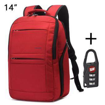 Harga Tigernu Anti-theft Waterproof School College Teenager Laptop Backpack for 10.1-14 Inches Laptop3152(Red)