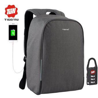 Harga Tigernu Waterproof Anti-thief Laptop Backpack fit for 12-15.6inches Laptop with USB Charging Port3213 (dark grey)