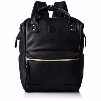 Harga 【Ship from Japan】 [Anello] Backpack leather mouthpiece backpack large AT-B1211 black - intl