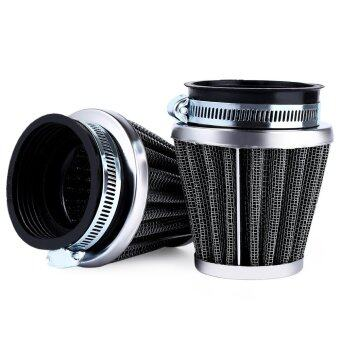 Harga 2pcs 54mm Motorcycle Mushroom Head Air Filter (Black) - intl